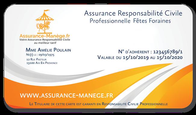 Assurance Responsabilité Civile Pro Fêtes Foraines Manèges Catégorie 1